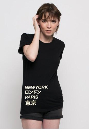 Monstore black Newyork Paris London Tokyo Tee MO393AA98JLDID_1