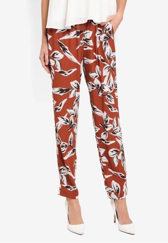 Y.A.S red Henna Pants YA631AA0T0FOMY_1
