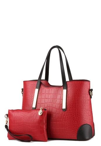 TCWK red TCWK Set of 2 pcs Red Ladies Handbag TC258AC0RRMBMY_1