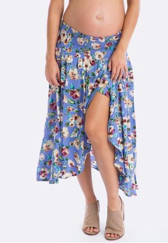 Maive & Bo blue Dreamer Maternity Skirt 400DEAACE1136CGS_1