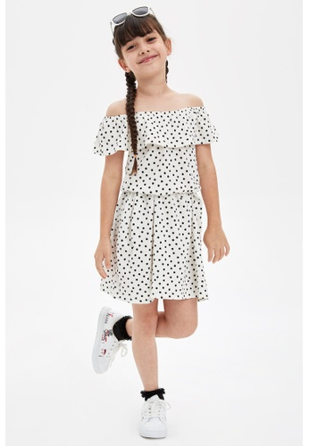 DeFacto white Girl Knitted Dress 5CCCDKAD514FF4GS_1
