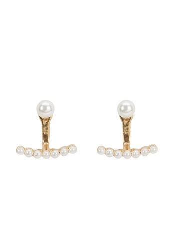 Parfois beige Short Faux Pearl Earrings 12440AC3D12AE8GS_1