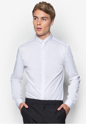 Premium 尖角領esprit鞋子商務長袖襯衫, 服飾, 襯衫
