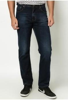 S-Shaped Waistband Denim Pants