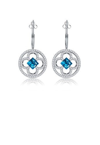 Glamorousky white Elegant Fashion Camellia Flower Earrings with Austrian Element Crystal D650CACA05D607GS_1