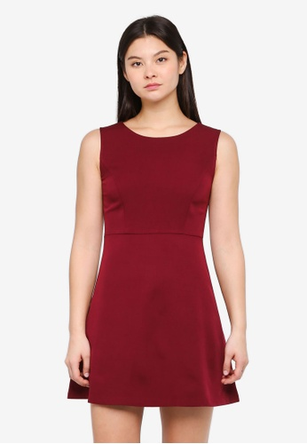Something Borrowed red Fit & Flare Dress 3E4D3AAB29266FGS_1