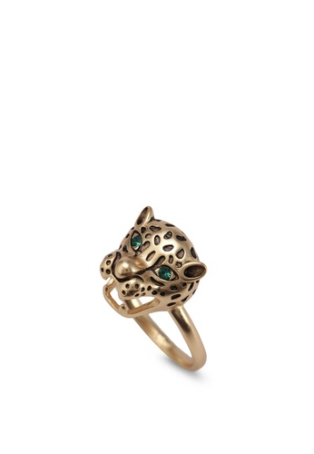 Orelia London gold Golden Plate Panther Head Ring OR747AC0SC4YMY_1
