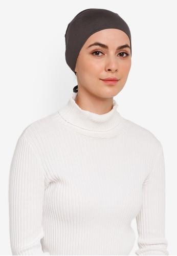 Hijabii grey Naia Tie Back Snowcap In Dark Grey C8FCCAAE4A7E3EGS_1