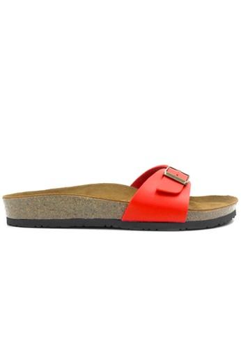 SoleSimple 紅色 Lyon - 紅色 百搭/搭帶 軟木涼鞋 81C8ESH09934E6GS_1