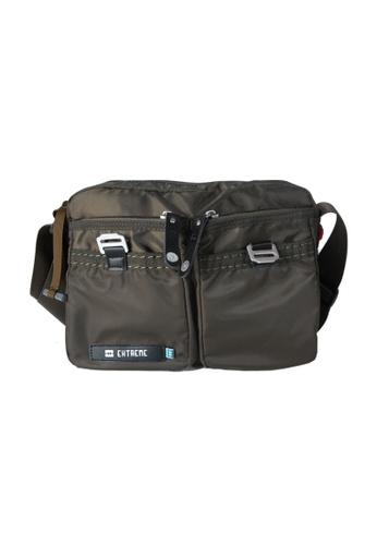 EXTREME green Extreme Tactical Sling Bag Lightweight Nylon Crossbody Army Green iPad 2 FF285AC900E14DGS_1