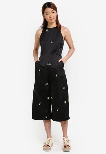 Something Borrowed black Sleeveless Culotte Jumpsuit 09AE8AA1CC4AC9GS_1