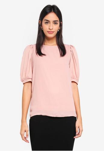 Vero Moda pink Pippa Short Sleeve Top DCCBEAA3E9F5F7GS_1