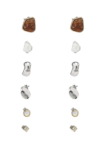GLOBAL WORK beige 6-Pack Pierce Studs 0263CACA0DC21FGS_1