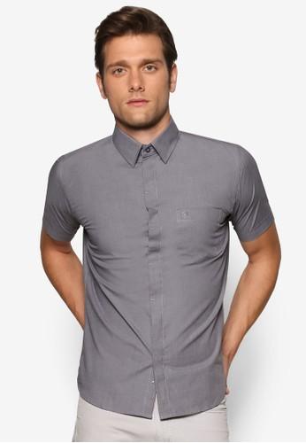 基本esprit outlet 香港款短袖襯衫, 服飾, 素色襯衫
