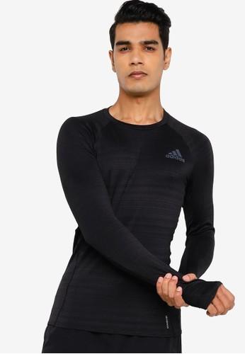 ADIDAS black adidas runner long sleeve tee men 83F54AAD1990CDGS_1
