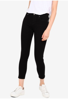 beb5799730060 Banana Republic black Petite Skinny Bistretch Pants E5F68AA8E35DD0GS_1