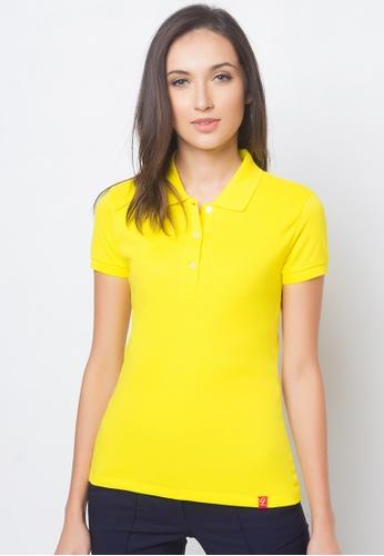 Guitar yellow Solid-toned Polo Shirt GU661AA89AJEPH_1