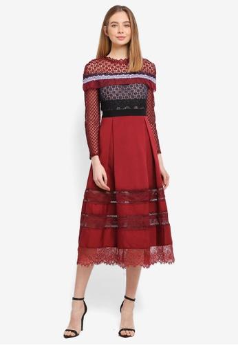 Megane red Red Romance Rachelle Lace Crochet Dress F6AFCAAFC8E463GS_1