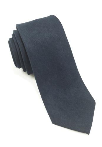 Splice Cufflinks Suede Series Navy Blue Suede Tie SP744AC20LPBSG_1