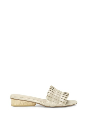 Enzo Angiolini beige EN-PEGGIE Pleated Leather Sandals 85FE7SHB09C05CGS_1