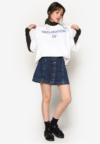 Declaration Of Idiot 短袖上衣, 服飾esprit hk分店, 印花時代