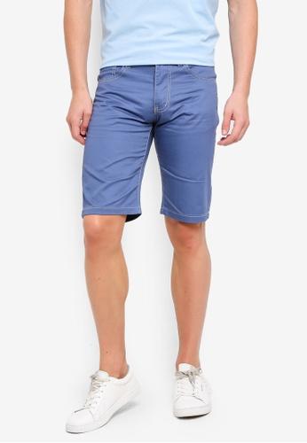 Fidelio 藍色 休閒修身短褲 E4488AA12F054BGS_1