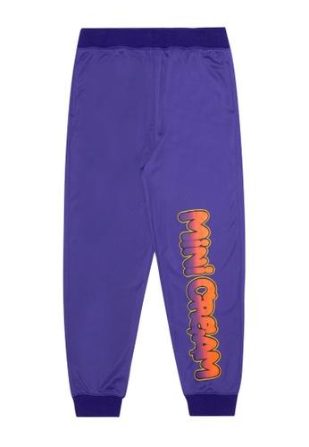 Mini cream purple Logo joggers BEF95AADB44AA6GS_1