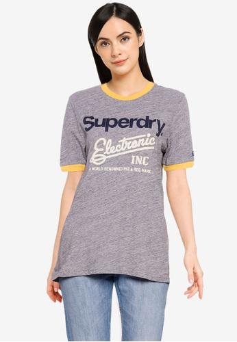 Superdry 灰色 Core Logo American 經典Ringer T-襯衫 - Original & Vintage B6A82AA6FF6FA0GS_1