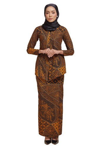 HABRA Kara Kebaya Batik KR48 from HABRA in Yellow