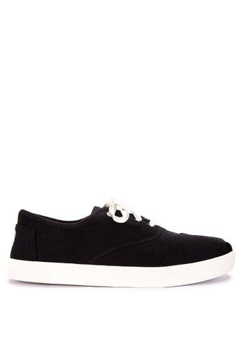 TOMS black Cordones Cupsole Sneakers 5CC3DSH6D478B0GS_1
