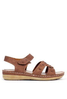 BETTINA brown Bettina Sandals Bernice - Brown D06B3SH0BECC8BGS_1