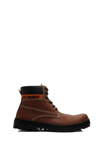 Cut Engineer brown Cut Engineer Classic Shoes Iron Safety Boots Leather Dark Brown 89EE2SH6E31B05GS_1
