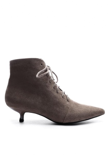 Twenty Eight Shoes Synthetic Suede Ankle Boots 1592-3 9CE4ASH5715FDFGS_1