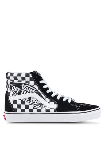 VANS black and white SK8-Hi Vans Patch Sneakers 609BBSH26B46D4GS_1