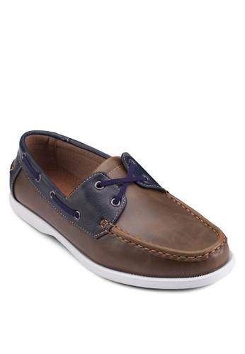esprit hk穿孔繫帶仿皮休閒鞋, 鞋, 船型鞋