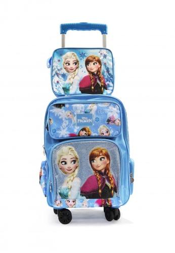 Disney blue Disney Frozen 16 inch Trolley Bag Set B6996KCBAA25C2GS_1