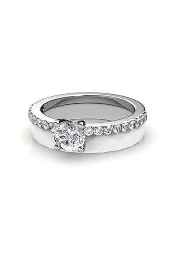 Her Jewellery white Swarovski® Crystals - Enchanted Ceramic Ring (White) - (18K White Gold Plated) Her Jewellery HE581AC0RDODMY_1