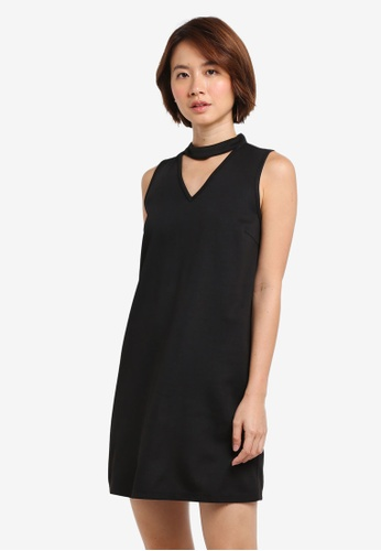 ZALORA black High Neck Detail Dress 7068EAA48F6294GS_1