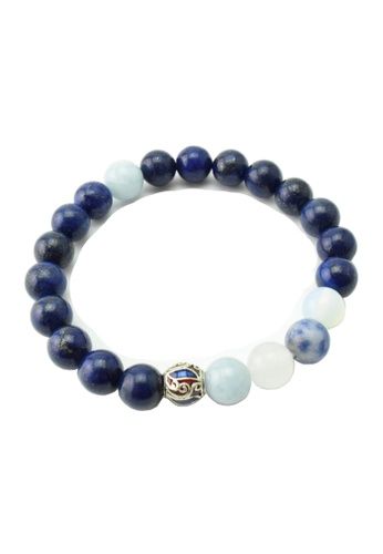 Memento Collection blue Ladies Lapis Lazuli Bracelet with Blue Jasper & White Jade ME060AC51HFOMY_1
