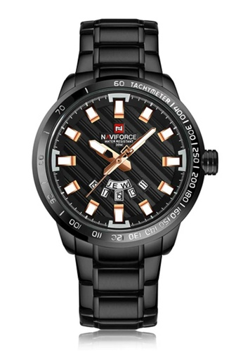 NAVIFORCE black Naviforce Rose Gold and Black Stainless Steel Watch 5313FACF3AA616GS_1