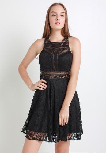 Leline Style black Emil Lace Dress LE802AA18LJHSG_1