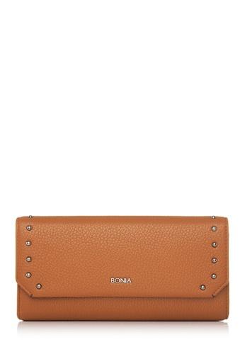 BONIA brown Brown Exquisite Chequebook Wallet BO777AC76GFRMY_1
