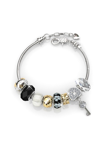 jewelery buy with from embellished charm crystals princess and silver her swarovski black ae jewellery bracelet