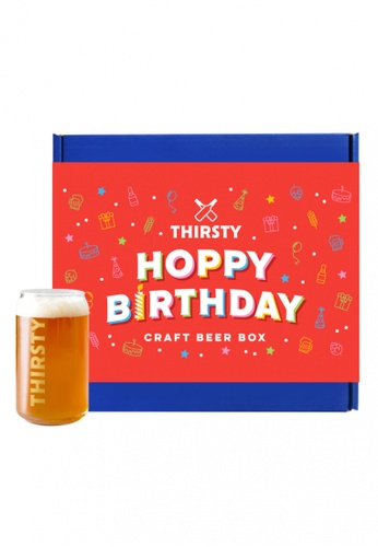 "Thirsty Thirsty ""Hoppy Birthday"" Craft Beer Gift Box [7 Beers + 1 FREE Glass] 61D09ESA1B87B2GS_1"
