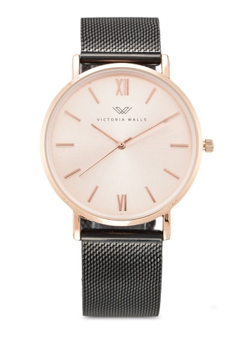 Victoria Walls Watches black Designer Watch-Elegant Milanese Mesh Strap A211CAC3DCAFAAGS_1