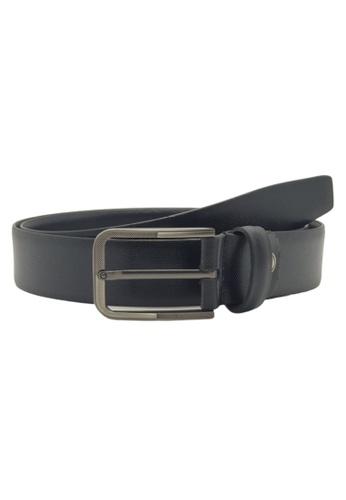 Oxhide black Black Formal Belt Men - Real Leather - Business / Office wear belt - OXHIDE YPSILON S31 CA387AC52DEA56GS_1