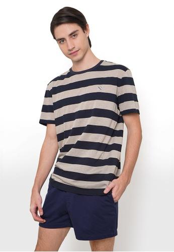 REGATTA white Regular Fit Round Neck Tee In Stripes F61E5AA273EEBDGS_1