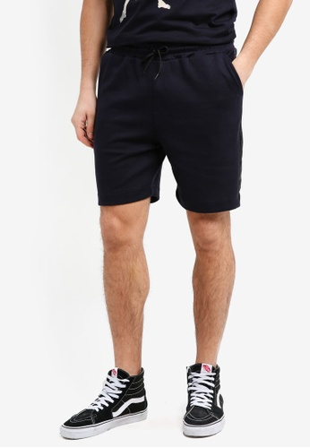 UniqTee navy Cotton Bermuda Shorts With Textured Stripe D9750AA75AFCC0GS_1