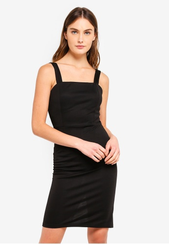 ZALORA BASICS black Basic Bodycon Mini Dress C77D2AAD6496F0GS_1