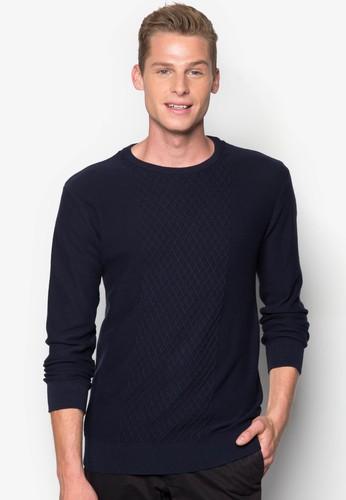菱格紋針織esprit分店長袖衫, 服飾, 服飾
